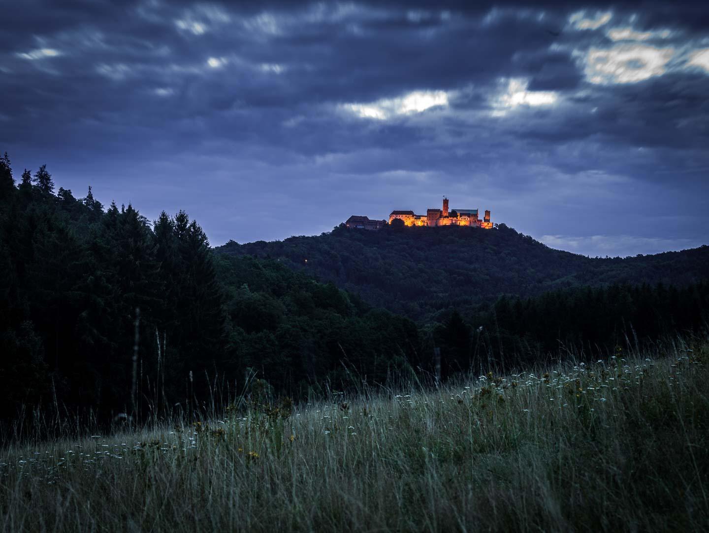 Wartburg, morgens von Westen.